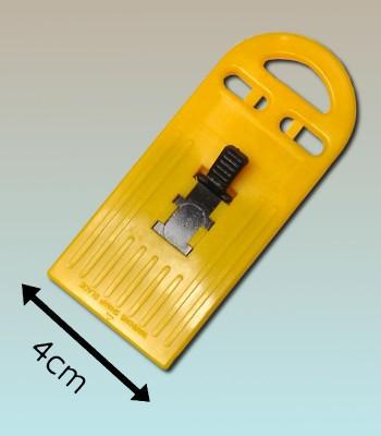 Pocket jaune 4cm pour vitres