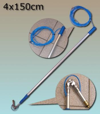 Perche Lewi 4x150cm + tuyau passage eau