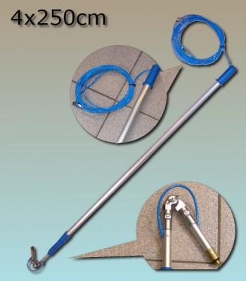 Perche Lewi 4x250cm + tuyau passage eau