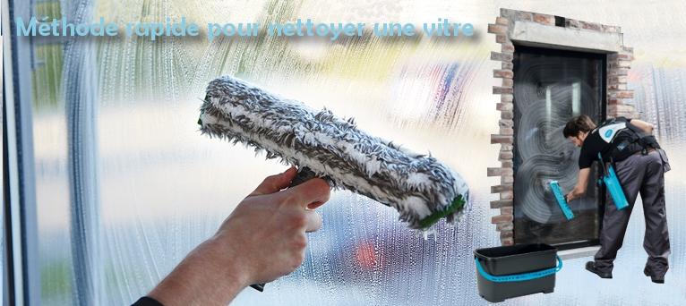 Méthode rapide pour nettoyer une vitre